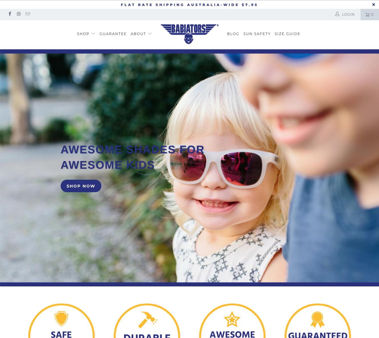 Babiators Shopify Website